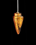 TIGER EYE TEAR DROP PENDULUM