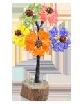5 Flower of Life Gem Tree w/Holy Rudraksha