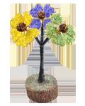 3 Flower of Life Gem Tree w/Holy Rudraksha