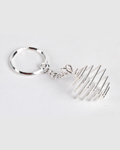 Spiral Cage Square Silver platted keychain