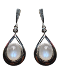 Diamond w/Rainbow Moonstone Earings
