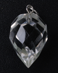 Crystal Qtz Faceted Drop w/Hook