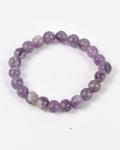Amethyst Round Bead Bracelet