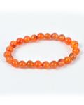 Carnelian Round Bead Bracelet