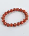 Red Jasper Round Bead Bracelet