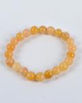 Yellow Aventurine Round Bead Bracelet