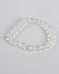 Crystal Qtz Round Bead Bracelet