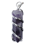 Amethyst Wire Wrap Point Pendant
