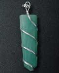 Green Aventurine Wire Wrap Flat Point Pendant