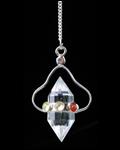 7 Chakra Crystal Qtz Herkimer Pendulum