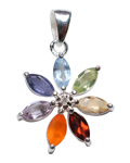 Diamond w/ Marquise 7 Chakra Faceted