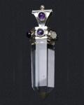 Crystal Qtz Chakra Point Pendant