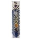 Sodalite 7 Chakra Pencil Pendant