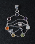 Eye of Horus 7 Chakra Pendant