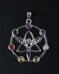 Triquera with Angel 7 Chakra Pendant