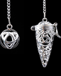 Triquera Symbol Cage Pendulum w/Chakra Stones