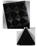Black Hot Stone Jasper Under carved 9 Pyramids