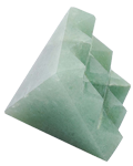 Light green Aventurine Under carved 9 pyramids