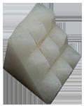 White qtz under carved 9 pyramids