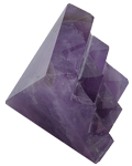 Amethyst under carved 9 pyramids