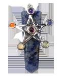 Sodalite w/ Cho ku Rei Chakra Pendant