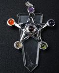 Crystal Qtz w/ Star Chakra Pendant
