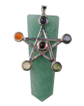 Green Aventurine w/ Star Chakra Pendant