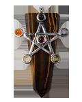 Tiger Eye w/ Star Chakra Pendant