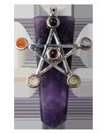 Amethyst w/ Star Chakra Pendant