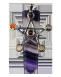 Flourite w/ Star Chakra Pendant